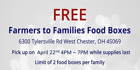 Farmers to Families Food Box Giveaway - April 22, 2021 tickets