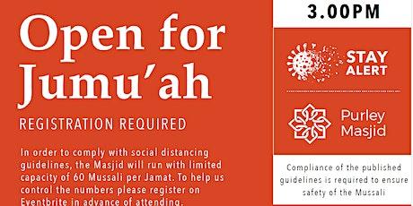 Purley Masjid Jumu'ah  - 4th Salah - 3.00pm - 23-Apr-21 tickets