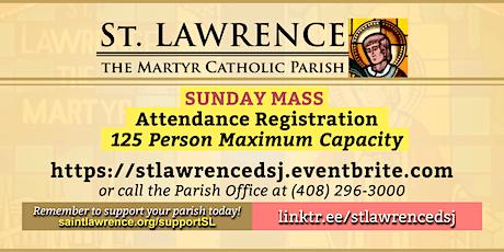SATURDAY, April 24, 2021 @ 5:00  PM Vigil Mass Registration tickets
