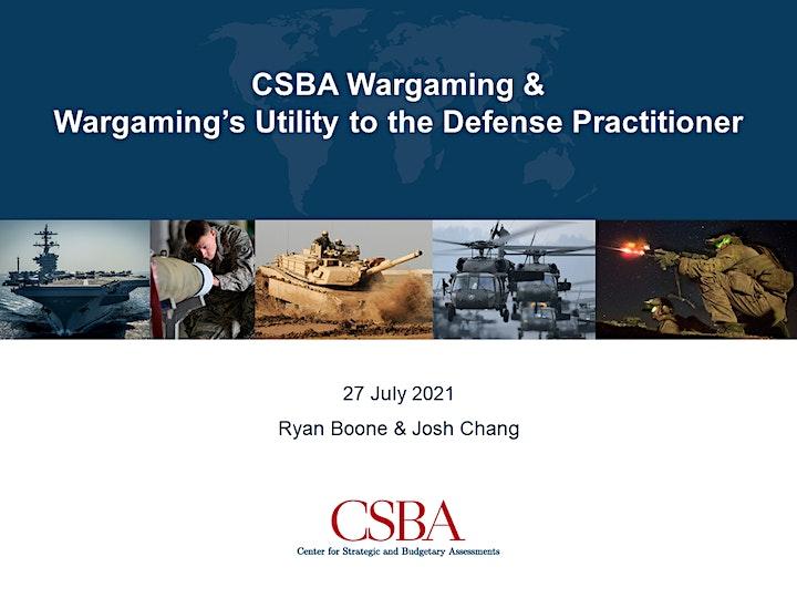 CSBA Wargaming & Wargaming's Utility to the Defense Practitioner image