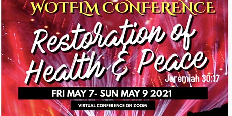 Restoration of Health & Peace Conference tickets