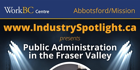 Industry Spotlight on Careers in Public Administration tickets