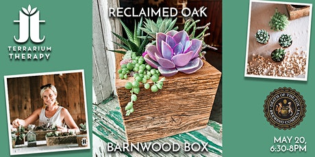 In-Person Workshop-Reclaimed Oak Barnwood Box at Death of a Fox Brewing Co. tickets