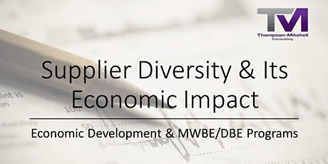 Supplier Diversity & Its Economic Impact Webinar tickets