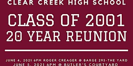 CCHS c/o 2001 - 20 Year Class Reunion Weekend - June 4 & 5 tickets