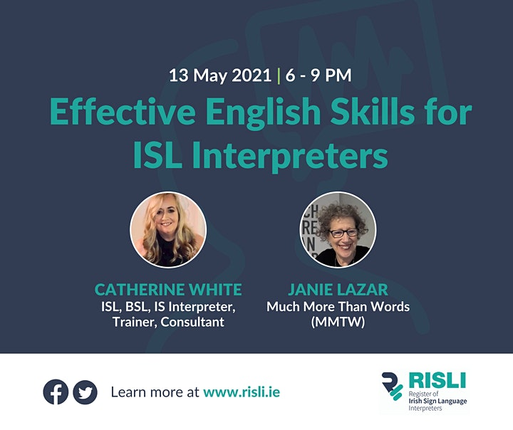 CPD - Effective English Skills for ISL Interpreters - Voiceover image