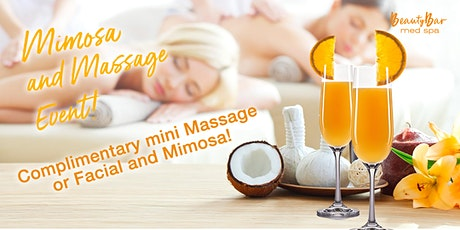 Mimosa and Massage tickets