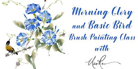 Morning Glory and Basic Bird Brush Painting Class tickets