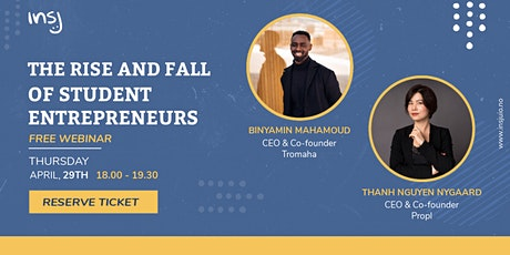 Webinar: The Rise and Fall of Student Entrepreneurs tickets
