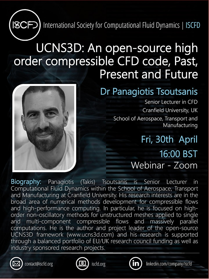 UCNS3D: An open-source high order compressible CFD code image