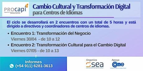 """WORKSHOP-""""Cambio Cultural y Transformación Digital para Centros de Idiomas"""" entradas"""