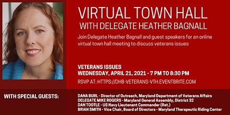 Delegate Bagnall's Virtual Town Hall - Veterans' Issues tickets