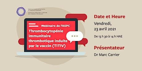 Webinaire au vaccin contre la COVID-19 : TITIV billets