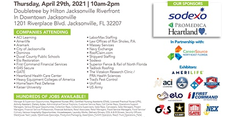 * Over 500 Jobs Available at The April 29th Jacksonville Job Fair ** tickets