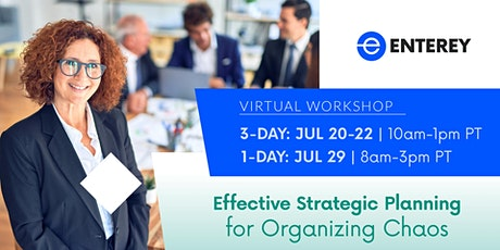 Effective Strategic Planning for Organizing Chaos 3-Day Workshop tickets