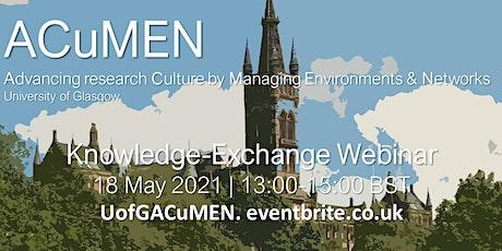 UofG ACuMEN Knowledge-Exchange Webinar tickets