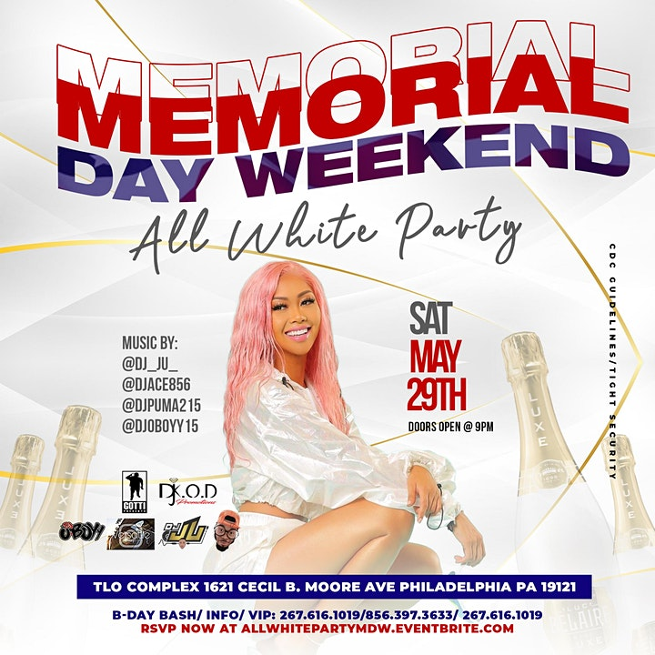 Memorial Day Weekend All White Party image