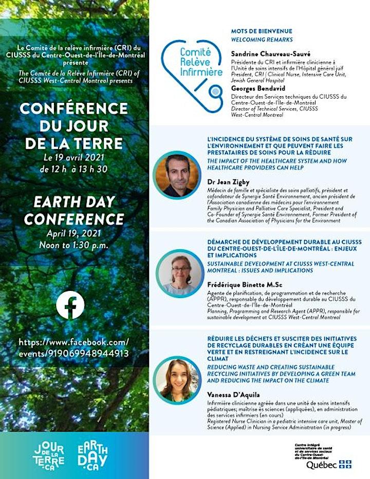 Conférence Jour de la Terre / Earth Day Conference image