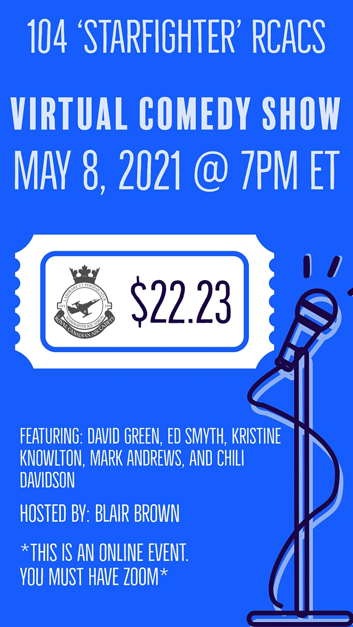 Comedy Fundraiser for 104 'Starfighter' Royal Canadian Air Cadets image