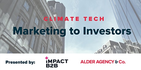 Climate Tech Marketing to Investors tickets