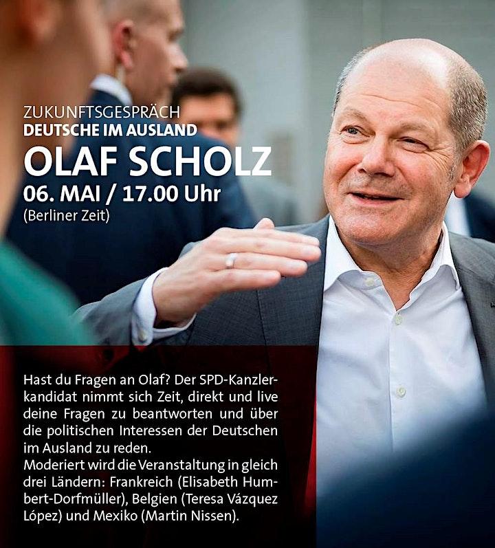 Zukunftsgespräch mit Olaf Scholz für Deutsche im Ausland: Bild