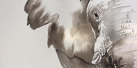The Friday Gallery Watercolour painting live online class: Elephant tickets