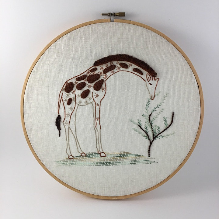 Introduction to Embroidery: Contemporary Animal image