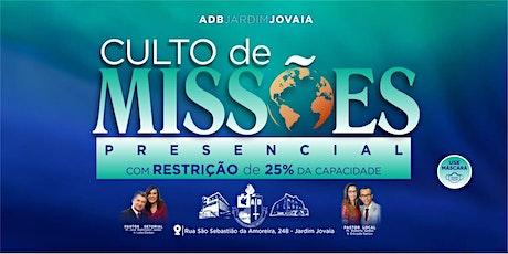CULTO DE MISSÕES ingressos