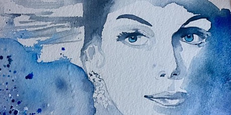 The Friday Gallery Watercolour painting online class: Old Hollywood Glamour tickets
