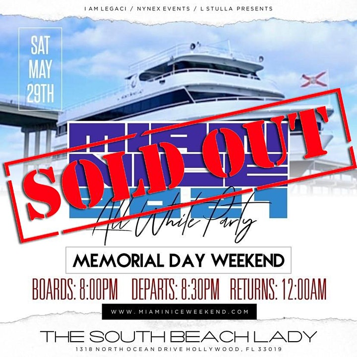 MIAMI NICE 2021 MEMORIAL DAY WEEKEND ANNUAL ALL WHITE YACHT PARTY image