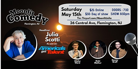 Moonlit Comedy with Julia Scotti tickets