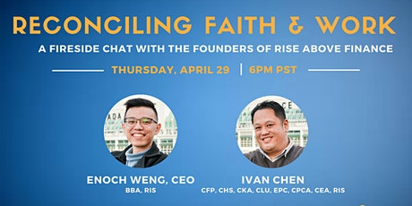 Reconciling Faith & Work: A Fireside Chat with the Founders of Rise Above tickets