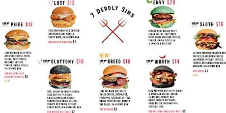 The se7en deadly sins burger challenge tickets