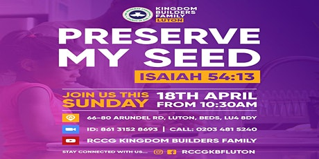RCCG Kingdom Builders Family Luton Sunday Service tickets