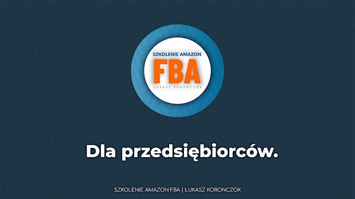 Szkolenie Amazon FBA - Łukasz Koronczok - online image