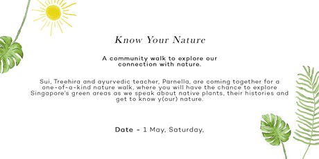Know y(our) nature : A community walk to explore our connection with nature tickets