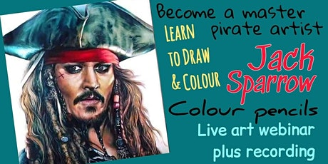 Learn to Draw and Colour - Jack Sparrow - Art Webinar for Children 10+ tickets