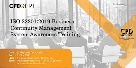 ISO 22301:2019 Business Continuity Management System Awareness Training biglietti