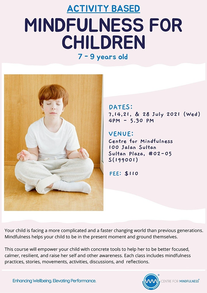 Mindfulness for Children (7-9 years old) image
