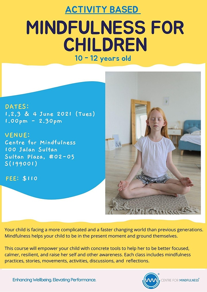 Mindfulness for Children (10-12 years old) image