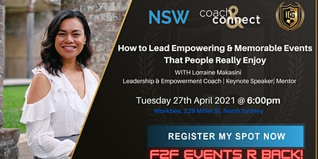 How to Lead Empowering & Memorable Events That People Actually Enjoy tickets