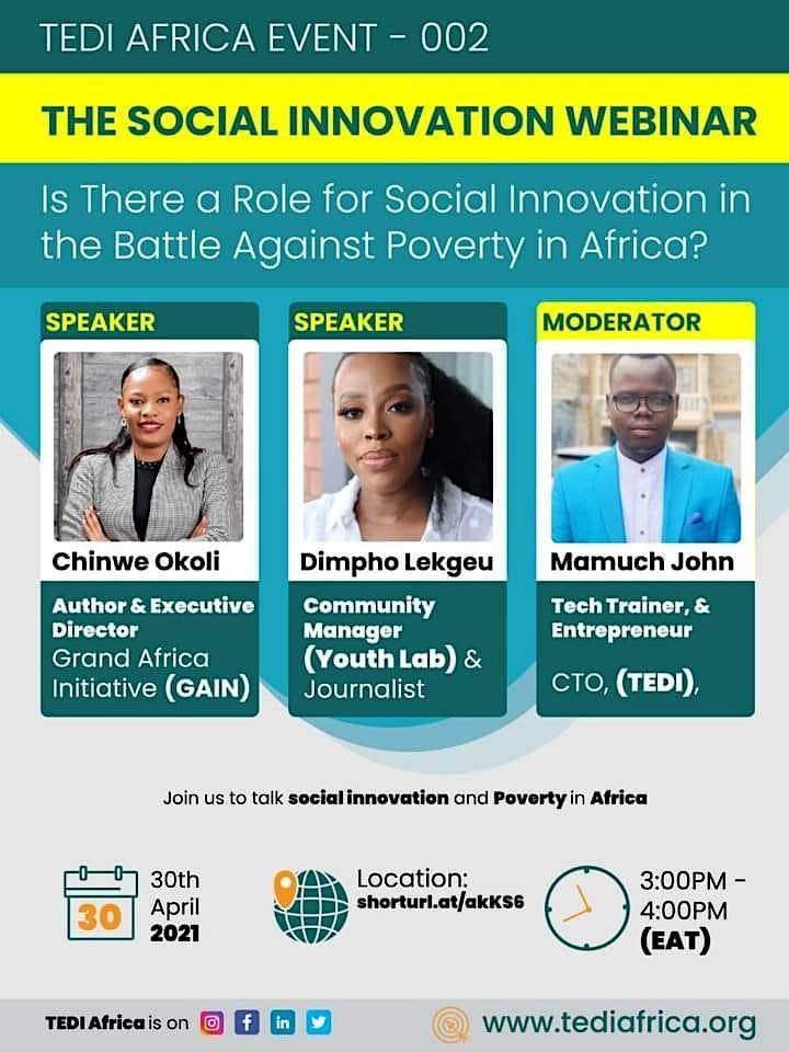 The Social Innovation Webinar:  Social Innovation & Poverty in Africa image