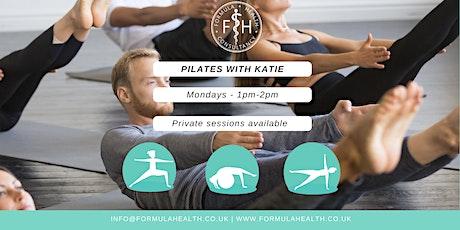 Pilates with Katie @ Formula Health Garden  Studio  - Mondays @1pm tickets