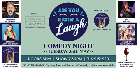 Are You Havin' A Laugh?! Comedy Night @ Social at Verandah tickets