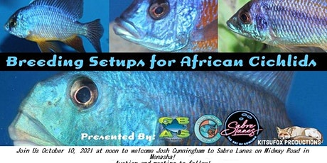 Copy of Breeding Setups for African Rift Lake Cichlids with Josh Cunningham tickets