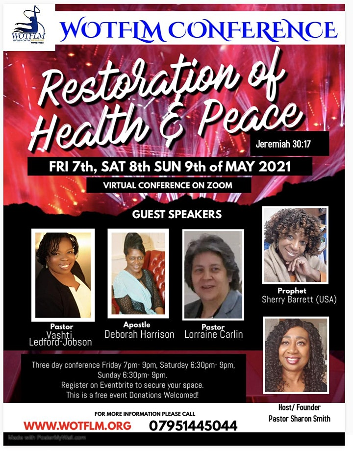 Restoration of Health & Peace Conference image
