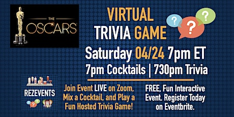 Oscars Virtual Trivia Game & Cocktail Party tickets