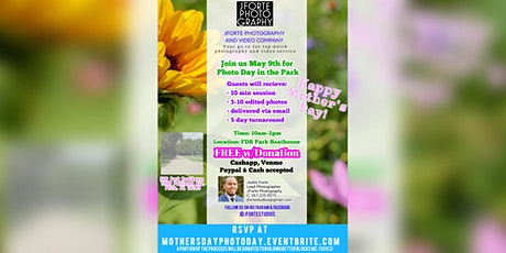 Mother's Day FREE Photo Day tickets
