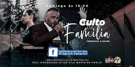 CULTO DA FAMÍLIA | DOMINGO |19h00 ingressos