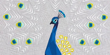 Virtual Class: Advanced Paper Piecing with Peacock Abstractions Quilt tickets